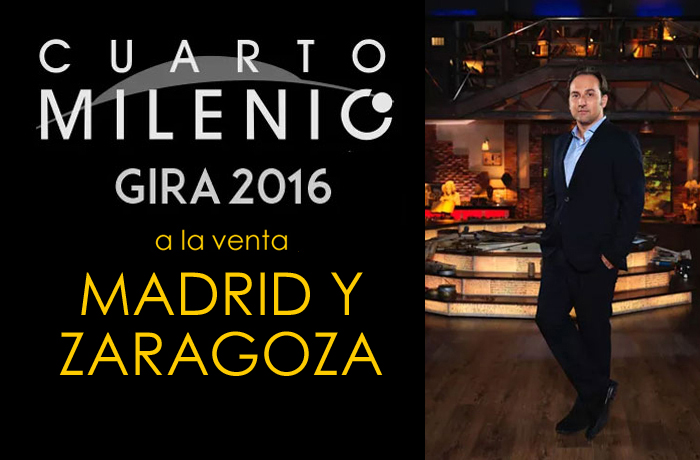 GIRA CUARTO MILENIO - Venta de entradas conciertos y espectáculos ...